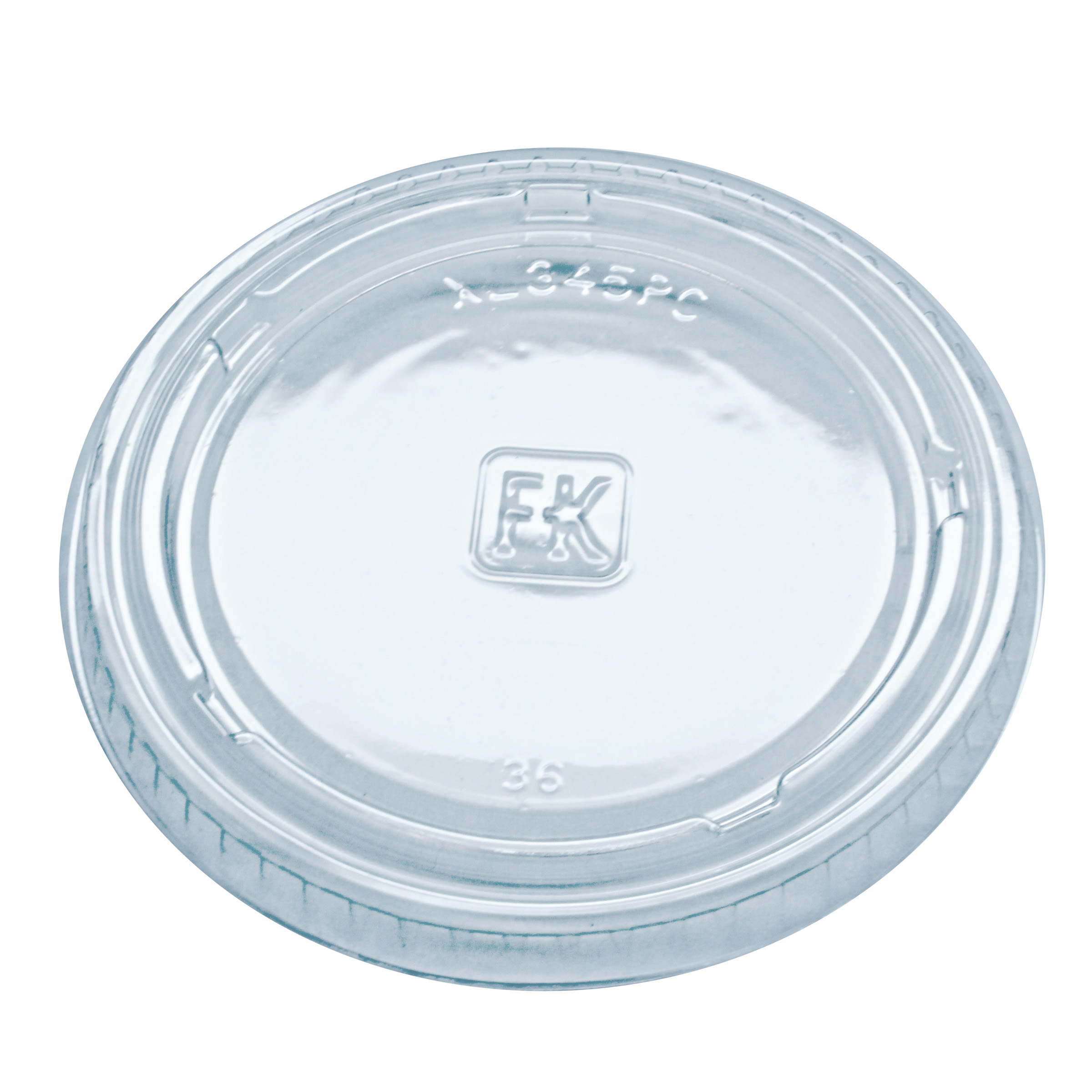 XL345PC2.5 CLR PC LID 20/125 2500/CS