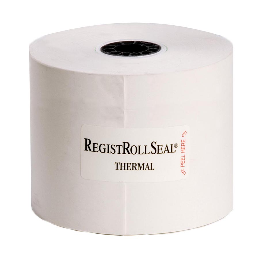 "Register Roll 2.25"" x 200' 1 Ply White Thermal POS Thermal Printer"