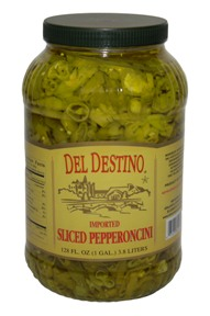 Del Destino Sliced Pepperoncini Peppers, 1 Gal.
