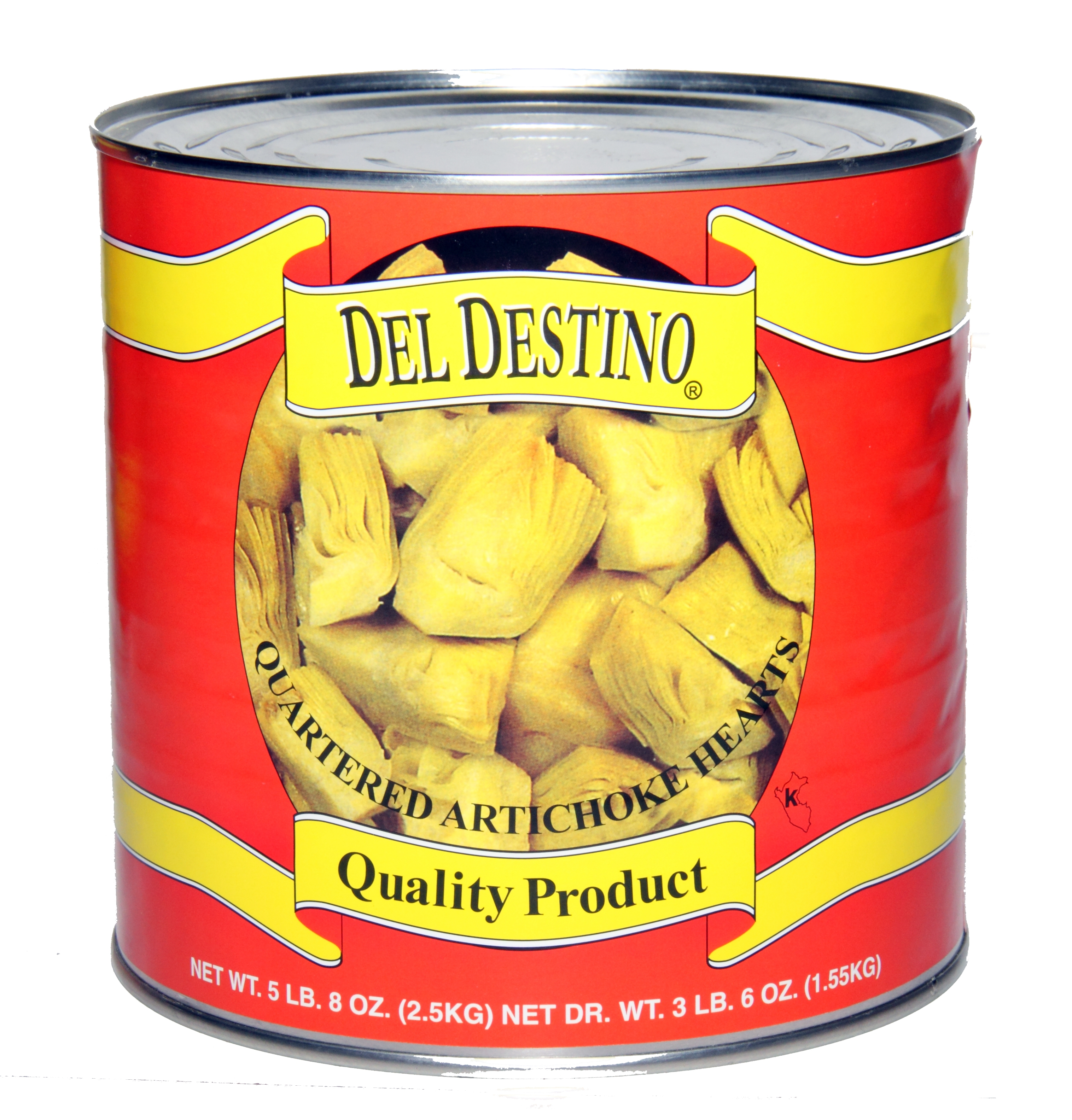 Artichokes, Quartered by Del Destino, 6/3 Kg